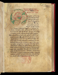 Decorated Initial, In A Collection Of Homilies By Caesarius of Arles, With Other Works f.2r